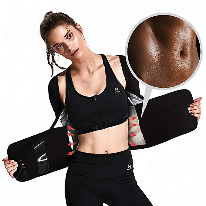 HOTSUIT Waist Trimmer Sauna Vest Fitness Weight Loss Waist Trainer for Women