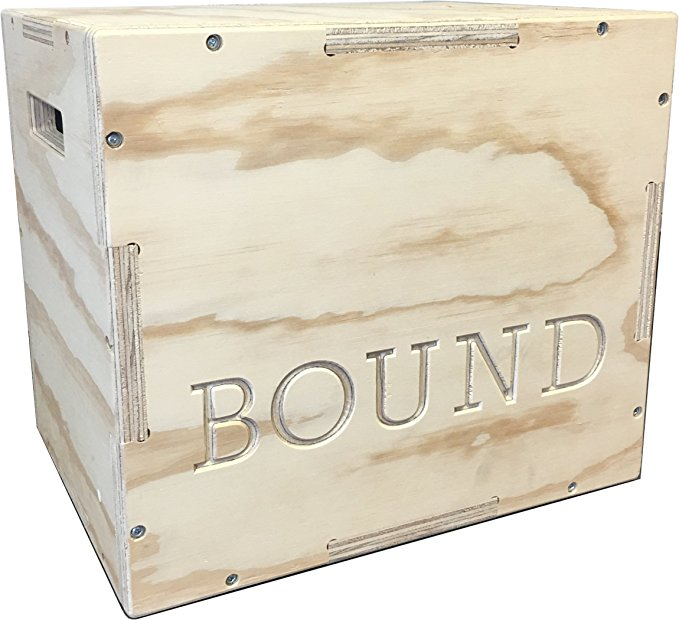 Bound 3-in-1 Wood Plyo Box - (30/24/20 - 24/20/16 - 20/18/16 - 16/14/12) - CrossFit Training, MMA, or Plyometric Agility - Jump Box, Plyobox, Plyo Box, Plyometric Box, Plyometrics Box