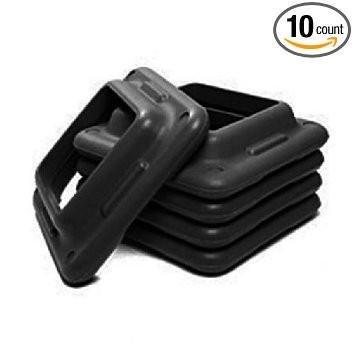 (10 Pack) Aerobic Club Step Extra Riser- Black (Gym 10 Pack)