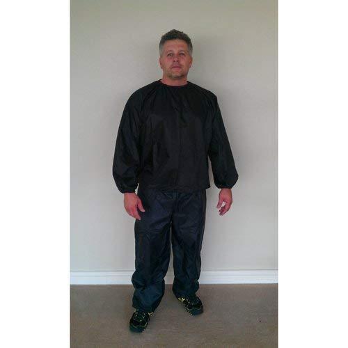 Nylon Black Sauna Suit - 3XL