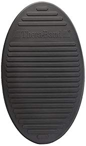 TheraBand Stability Trainer Pad, Advanced Level Black Inflatable Pad, Balance Trainer & Wobble Cushion for Balance & Core Strengthening, Rehabilitation, Physical Therapy, Round Sport Balance Trainer
