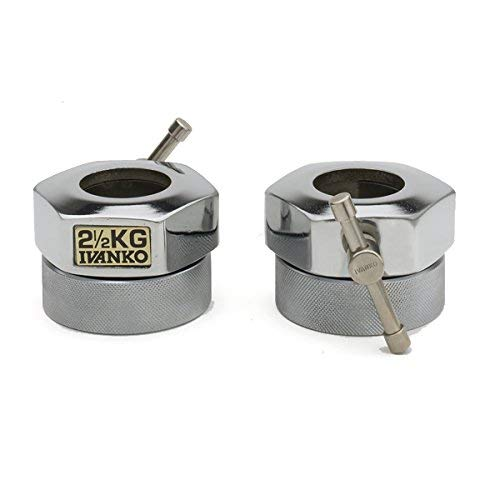 IVANKO (COC-2.5KG) Compression Ring Olympic Collars, Chrome Finish (PAIR)