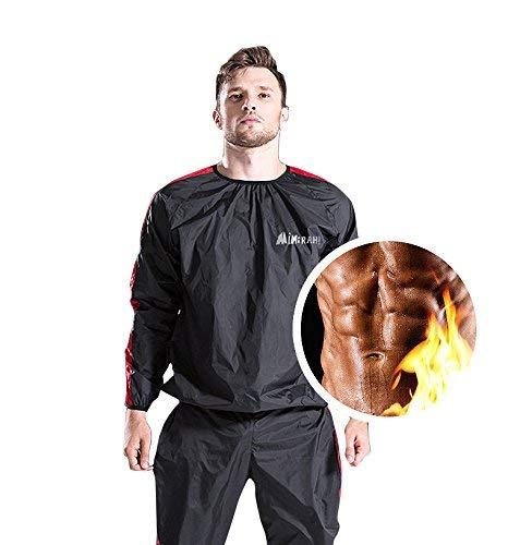 MINIRAH! Sauna Slimmimg Sweat Suit Fitness Gym Exercise Weight Loss Anti-Rip Training Suit Men