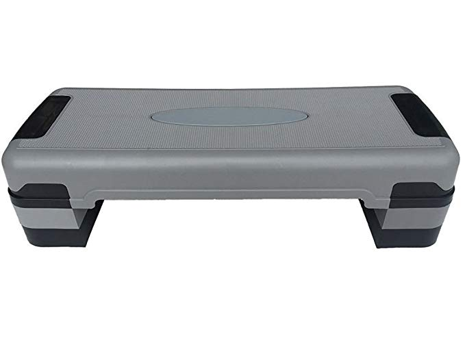"KLB Sport 32"" Adjustable Exercise Equipment Step Platform For Sports & Fitness W/4 Risers"