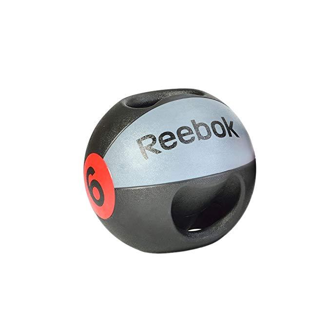 Reebok Double Grip Medicine Ball, Black/Gray
