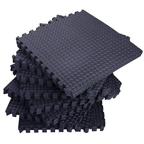 Tenive Puzzle Exercise Mat Eva Foam Interlocking Tiles ,Multi-Purpose Floor Mat for Exercise & Fitness ,Gyms ,Yoga ,Kids Playrooms , Basement -Square Floor Tiles