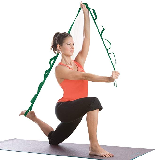 Asatr Sport Multi-Use Fitness Yoga Training Belt Stretch Out Strap Resistance Bands,Green