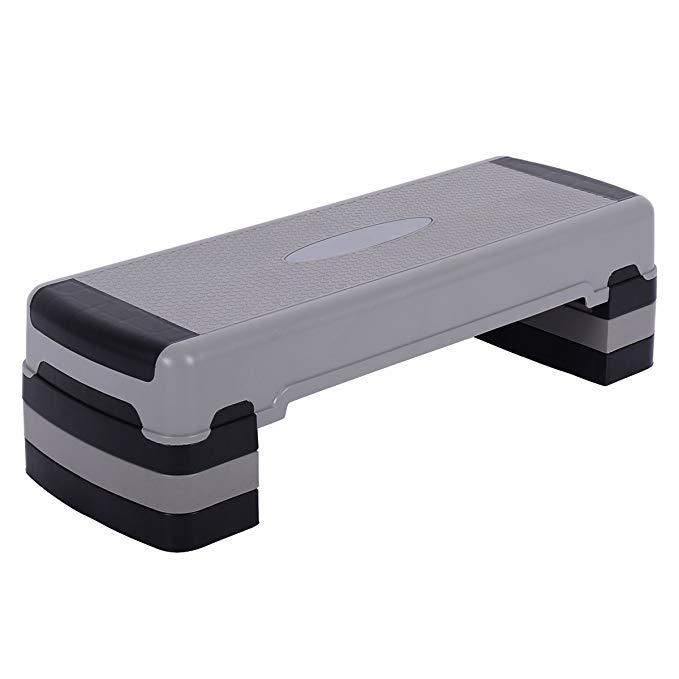 Giantex 35'' Aerobic Exercise Step Platform with Adjustable Risers 5.5