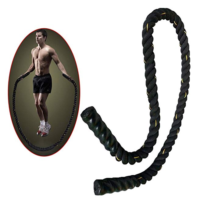 Ueasy Heavy Jump Rope Skipping Ropes Power Training to Improve Strength, Endurance And Agility