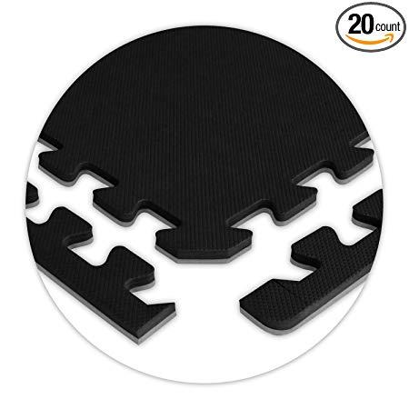 American Floor Mats SoftFloors 2' x 2' Interlocking Reversible Tiles 1/2