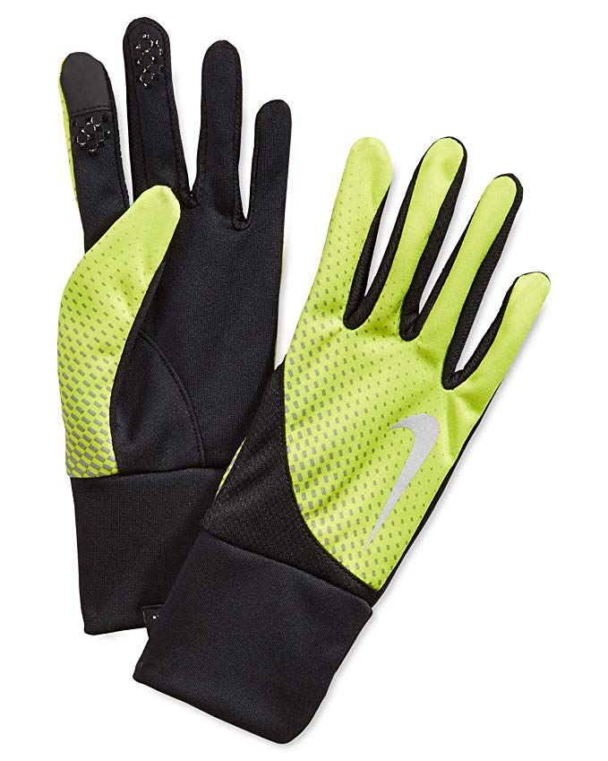 Nike Green Yellow Small Dri-Fit Running Athletic Gloves
