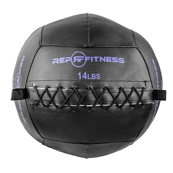 Rep Black Wall Ball for Strength and Conditioning, Cross Training, and Cardio Workouts