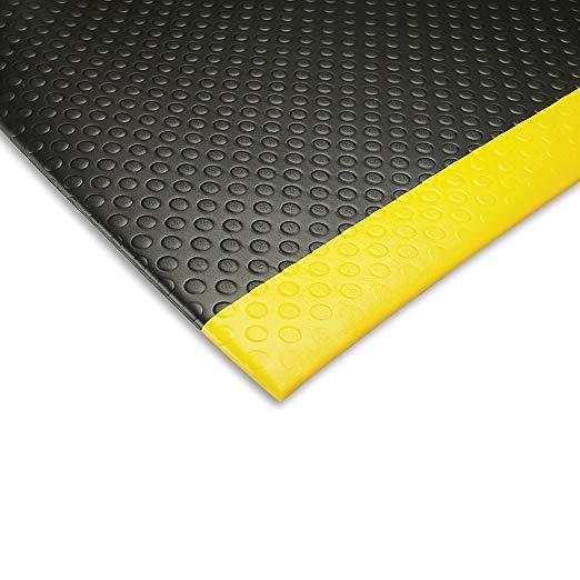 Notrax Bubble Sof-Tred Anti-Fatigue Mat - 3X12' - Black/Yellow Border - Black/Yellow Border - 3x12'