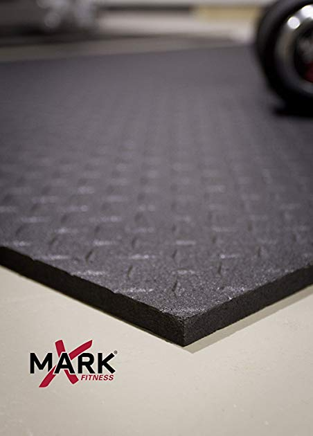 XMark Fitness XMat Ultra Thick Weight Lifting Home Gym Floor mat Sets