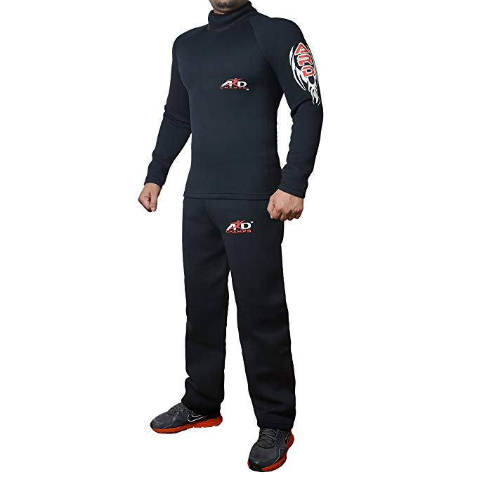 ARD-Champs Heavy Duty Neoprene Sweat Suit Sauna Exercise Gym Weight Loss Suit Fitness