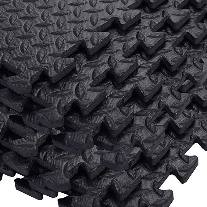 TANGKULA 48 Sq Ft EVA Foam Floor Interlocking Mat Show Floor Gym Mat