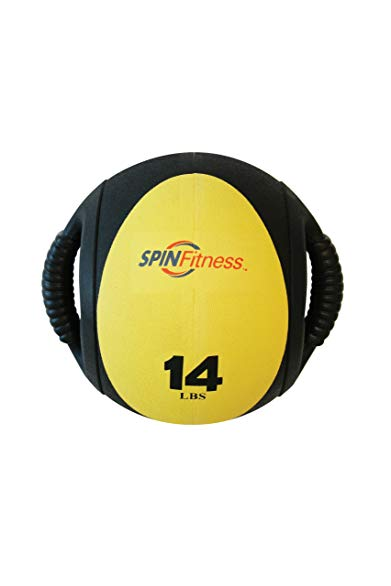 Mad Dogg Athletics SPIN Fitness Commercial Grade Dual Grip Med Ball 14 lbs.